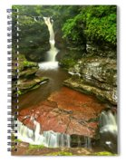 Pennsylvania Red Rock Falls Spiral Notebook