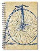 Penny-farthing 1867 High Wheeler Bicycle Vintage Spiral Notebook