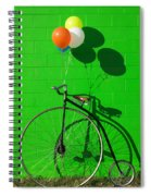 Penny Farthing Bike Spiral Notebook