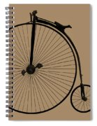 Penny Farthing Sepia Spiral Notebook