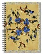 Penny Postcard Silk-stitched Spiral Notebook