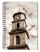Penryn Clock Tower In Sepia Spiral Notebook
