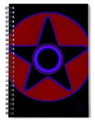 Pentagram In Red Spiral Notebook
