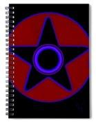 Pentagram In Red Spiral Notebook