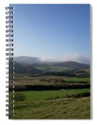 Pentlands With Clouds And Some Sun. Spiral Notebook