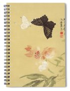 Peonies And Butterflies Spiral Notebook