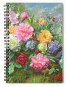 Peonies And Hydrangea Spiral Notebook