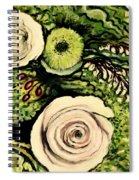 Peonies And Hypercom Spiral Notebook