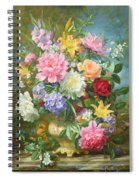 Peonies And Mixed Flowers Spiral Notebook