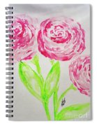 Peonies In Bloom Spiral Notebook