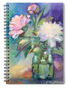 Peonies In Jar Spiral Notebook