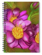 Peonies On Holiday Spiral Notebook