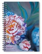 Peony And Chinese Vase Spiral Notebook