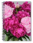 Peony Bouquet Spiral Notebook
