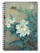 Peony Butterfly Spiral Notebook