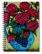 Peony Party Spiral Notebook