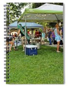 People At Food Event 3 Spiral Notebook