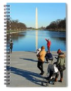 People At The Reflecting Pool Spiral Notebook