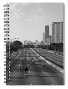 People Cycling On A Road, Bike The Spiral Notebook