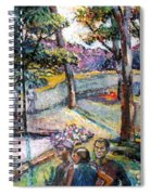 People In Landscape Spiral Notebook