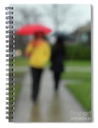 People In The Rain Spiral Notebook