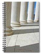 A Man Leaning On A Column Spiral Notebook