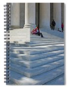 People On Steps With Columns Spiral Notebook