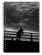 People On The Bridge Spiral Notebook