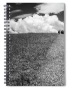 People On The Hill Bw Spiral Notebook