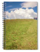 People On The Hill Painterly Spiral Notebook