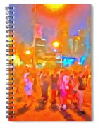 People Outside On Street Spiral Notebook