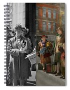 People - People Waiting For The Bus - 1943 - Side By Side Spiral Notebook