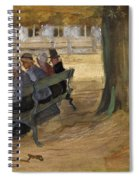 People Sitting On A Bench In Bezuidenhout. The Hague Spiral Notebook
