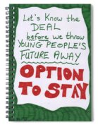People's Vote Option To Stay Young People Need A Future Spiral Notebook