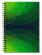 Pepper Semi Circle Background Horizontal Spiral Notebook