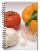 Pepper, Tomato And Garlic Spiral Notebook