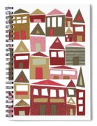 Peppermint Village Spiral Notebook