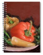 Peppers And Parsley Spiral Notebook