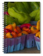 Peppers At The Produce Market Spiral Notebook