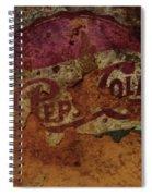 Pepsi Cola Vintage Sign 5a Spiral Notebook