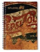 Pepsi Cola Vintage Sign 5b Spiral Notebook