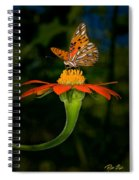 Perched On A Blossom  Spiral Notebook