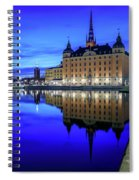 Perfect Riddarholmen Blue Hour Reflection Spiral Notebook