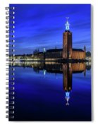 Perfect Stockholm City Hall Blue Hour Reflection Spiral Notebook