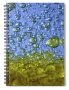 Abstract Olive Oil Spiral Notebook