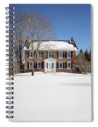 Period Vintage New England Brick House In Winter Spiral Notebook