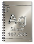 Periodic Table Of Elements - Silver - Ag Spiral Notebook