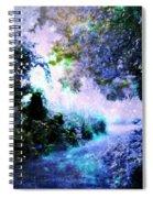 Fantasy Garden Path Periwinkle Spiral Notebook