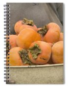 Persimmons In A Bucket Spiral Notebook
