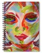 Persistence - Contemporary Art Face Spiral Notebook